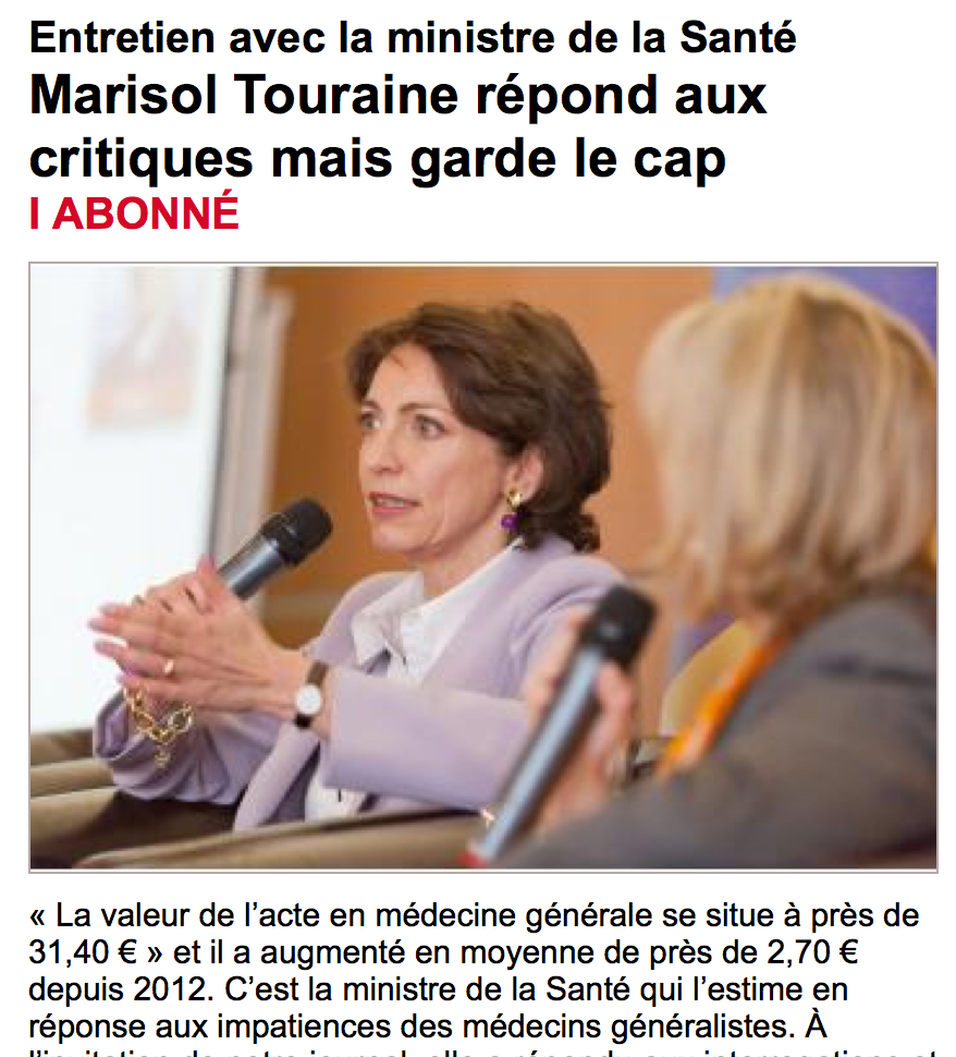 Interview Mme Touraine